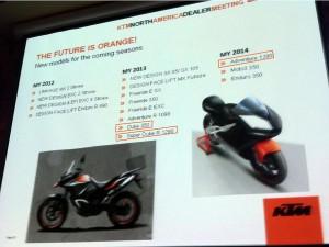KTM Modelle 2012, 2013 und 2014: Duke 350 und Duke 1290 kommen