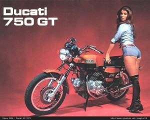 Meilenstein in den wilden 70ern - die Ducati 750 GT.