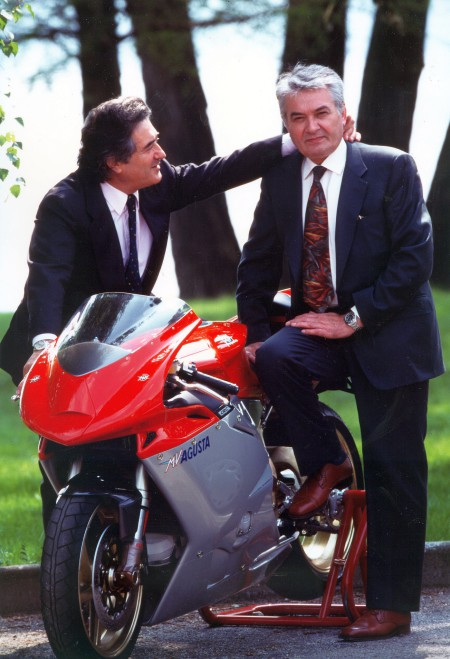 Zwei der ganz Großen, mit Massimo Tamburini (rechts im Foto) ist der letzte Heroe der italienischen Motorradwelt verstorben, wie Claudio Castiglioni (links) ebenfalls an Krebs.