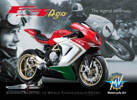 """Zu Ehren von der """"Nummer 1"""", Giacomo Agostini, bringt MV Agusta mit F3 800 AGO eine auf 300 Exemplare limierte Replika."""
