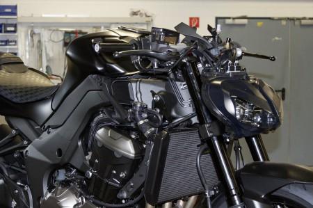 """Kawasaki Z1000 Custom-Projekt """"Super-Z"""" - das neue Projekt entsteht in Zusammenarbeit mit LSL und wird auf der INTERMOT 2014 präsentiert."""