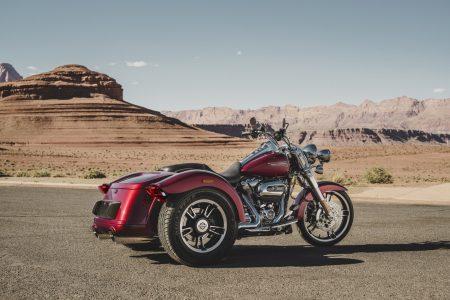 Das neue Trike, die Freewheeler, wird ebenfalls vom Milwaukee-Eight 107 Motor befeuert.